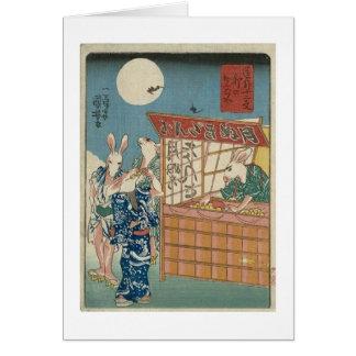 ` De Kuniyoshi las doce muestras cómicas del Tarjeta De Felicitación
