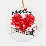De la adopción ornamento de la familia para adorno redondo de cerámica