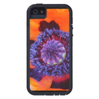 De la amapola cierre anaranjado para arriba iPhone 5 protector