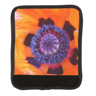 De la amapola cierre anaranjado para arriba funda para asa de maleta