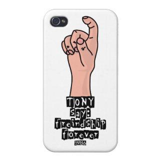 De la amistad el caso divertido brillante del iPho iPhone 4 Fundas