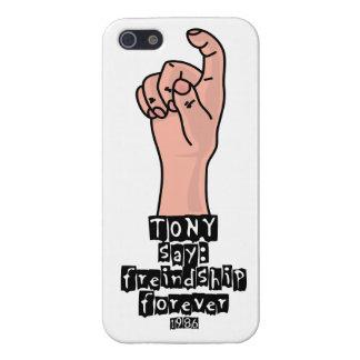 De la amistad el caso divertido brillante del iPho iPhone 5 Funda