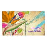 ♥♥♥ de la ave del paraíso del vintage de tarjetas de visita