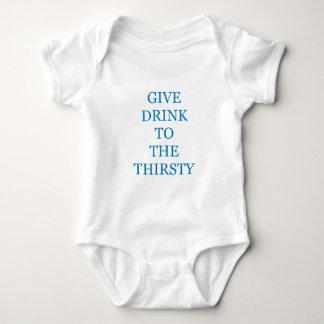 Dé la bebida al sediento body para bebé