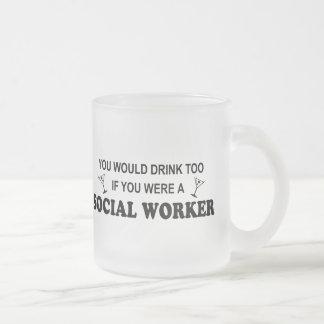De la bebida asistente social también - taza de cristal