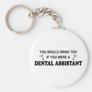 De la bebida ayudante de dentista también - llavero redondo tipo pin