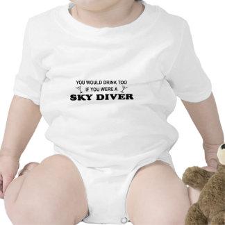 De la bebida buceador del cielo también - camisetas
