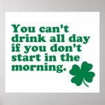 De la bebida camisa todo el día impresiones