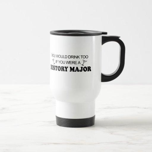 De la bebida comandante de la historia también - tazas de café