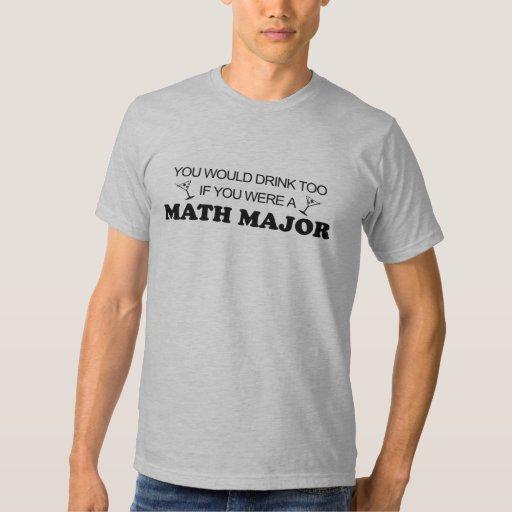 De la bebida comandante de matemáticas también - playera