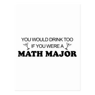 De la bebida comandante de matemáticas también - tarjetas postales