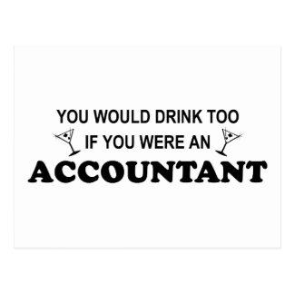 De la bebida contable también - tarjeta postal