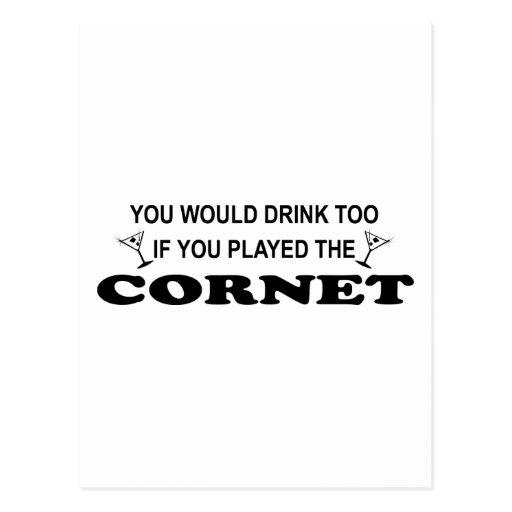 De la bebida cucurucho también - tarjetas postales