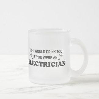 De la bebida electricista también - taza de cristal