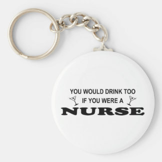 De la bebida enfermera también - llaveros personalizados