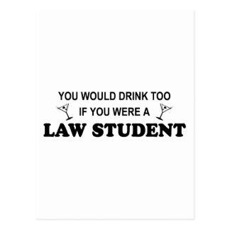 De la bebida estudiante de Derecho también - Postal
