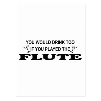 De la bebida flauta también - postal