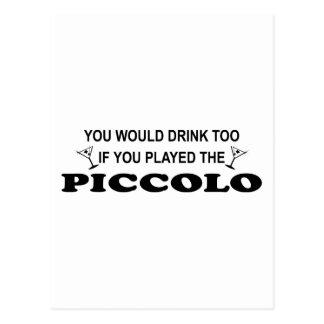 De la bebida flautín también - tarjeta postal