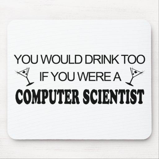 De la bebida informático también - tapete de ratón