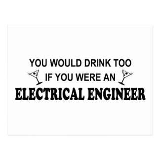 De la bebida ingeniero eléctrico también - tarjetas postales
