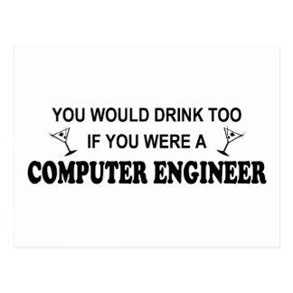 De la bebida ingeniero informático también - postales