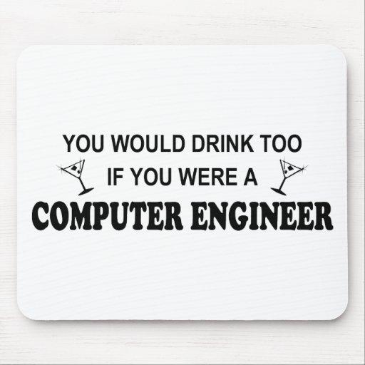 De la bebida ingeniero informático también - alfombrillas de raton
