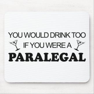 De la bebida Paralegal también - Mouse Pads