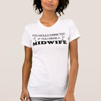 De la bebida partera también - camisetas