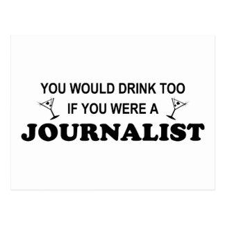 De la bebida periodista también - postal