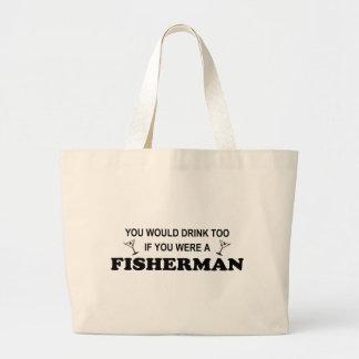 De la bebida pescador también - bolsa de mano