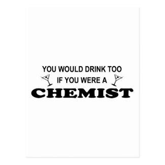 De la bebida químico también - tarjeta postal