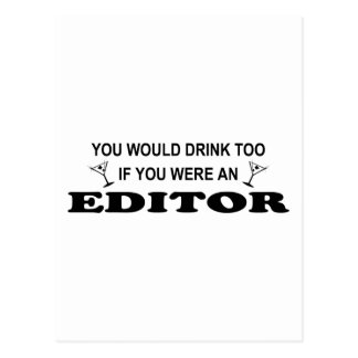 De la bebida redactor también - tarjetas postales