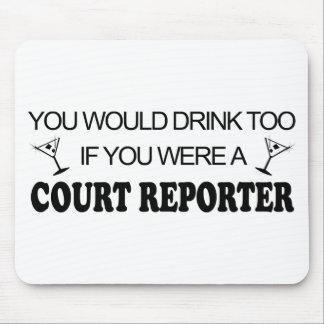 De la bebida reportero de corte también - alfombrilla de ratones