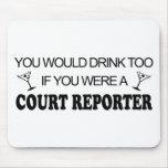 De la bebida reportero de corte también - alfombrillas de raton