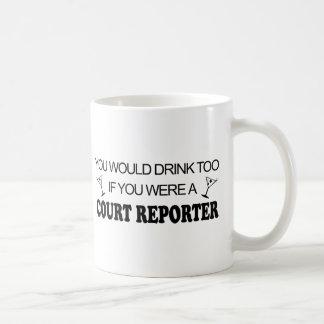 De la bebida reportero de corte también - taza de café