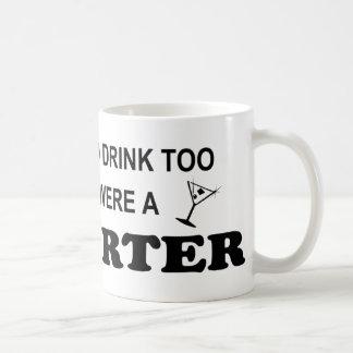 De la bebida reportero también - taza de café