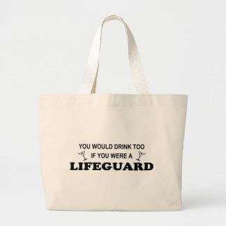 De la bebida salvavidas también - bolsa de mano