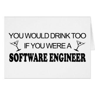 De la bebida Software Engineer también - Tarjeta De Felicitación