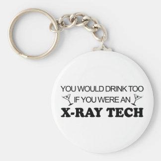 De la bebida tecnología de la radiografía también  llavero redondo tipo pin