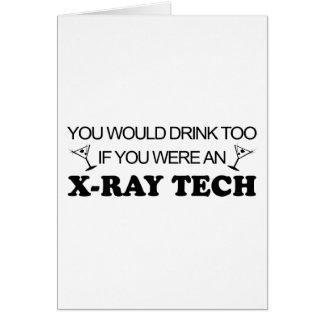 De la bebida tecnología de la radiografía también  tarjeta de felicitación