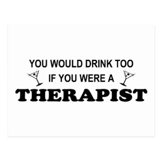 De la bebida terapeuta también - postales