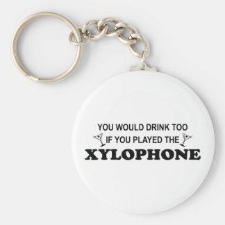 De la bebida xilófono también - llavero redondo tipo pin