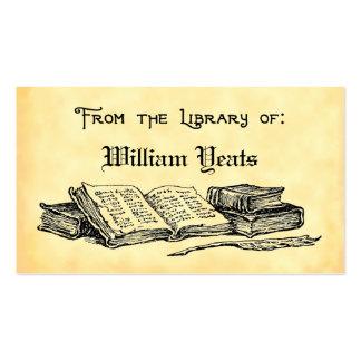 De la biblioteca de libros y del Bookplate de la