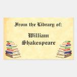 De la biblioteca del Bookplate del personalizado Rectangular Altavoces