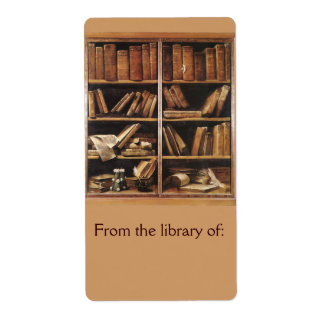 De la biblioteca del Bookplate Etiqueta De Envío