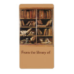 De la biblioteca del Bookplate Etiquetas De Envío