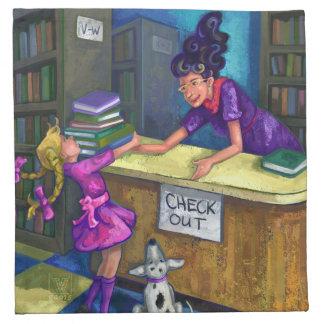 De la biblioteca del control ilustraciones hacia servilleta de papel