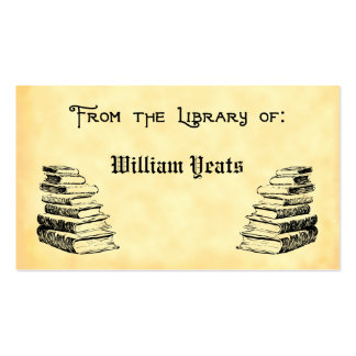 De la biblioteca del vintage reserva Bookplate