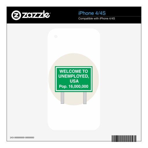 Dé la bienvenida a la población parada de los E.E. Skin Para El iPhone 4