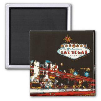 ¡Dé la bienvenida a Las Vegas al bebé! Imán Cuadrado